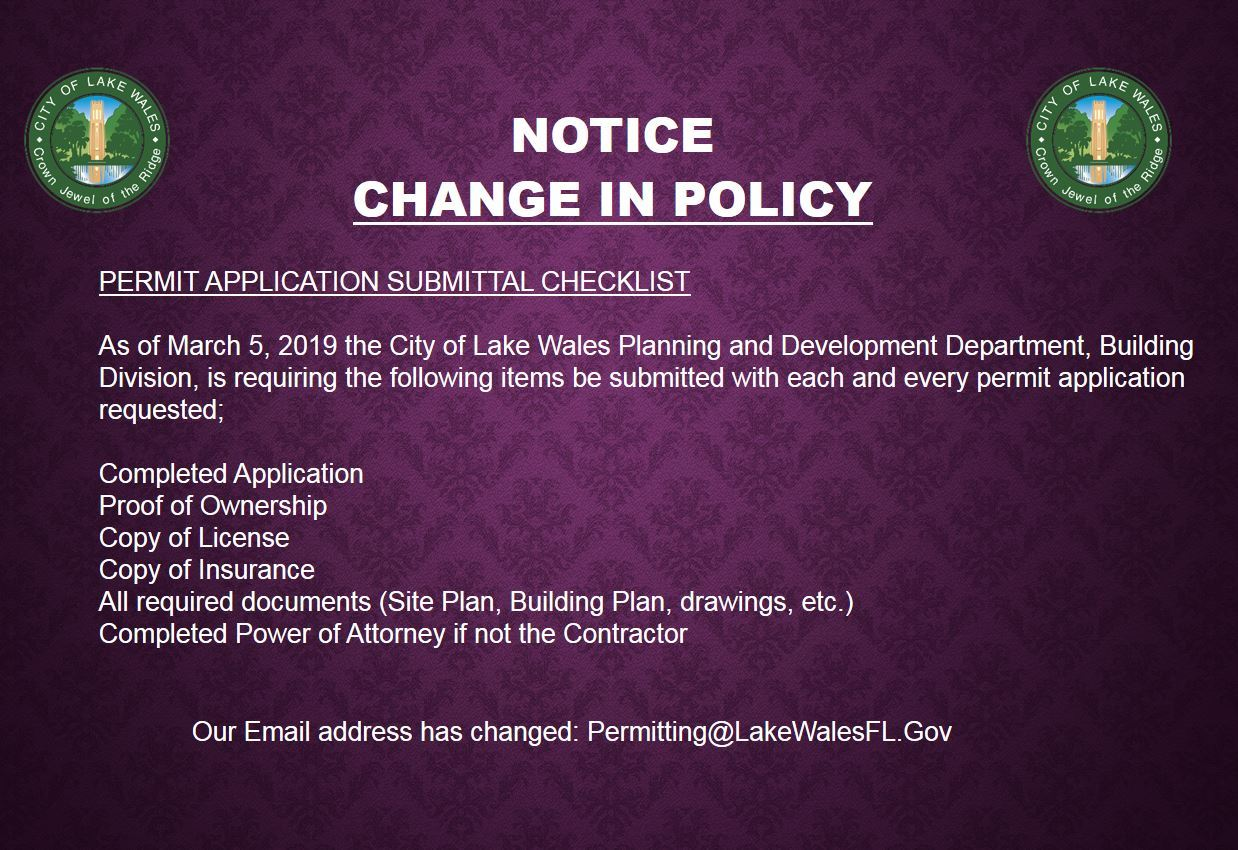 policy change 2019-0305