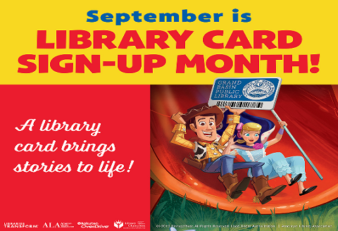 September Library Card month 2019